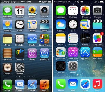 iphone flat design par eyeonline agency webmarketing externalisé