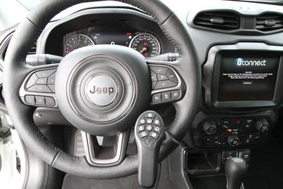 behindertengerechter Jeep Renegade Selbstfahrerumbau, Linksgas, Multifunktionslenkraddrehknauf, Sodermanns