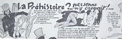 Détail d'une BD parue dans Spoutnik Magazine, L'Humanité dimanche, 25/10/1959. Collection particulière.