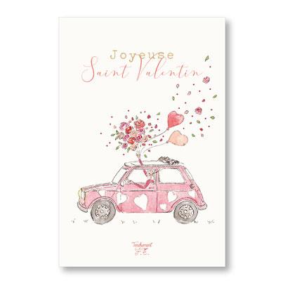 tendrement fé illustration papeterie bohème carte mini austin saint valentin amour collection aquarelle poétique