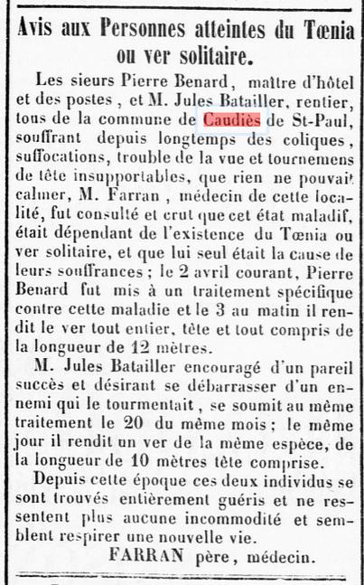 Farran Tœnia 1853