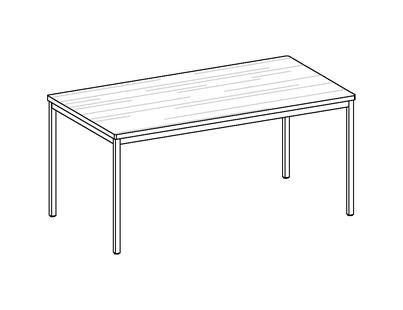 room³ Tisch mit Massivholzplatte