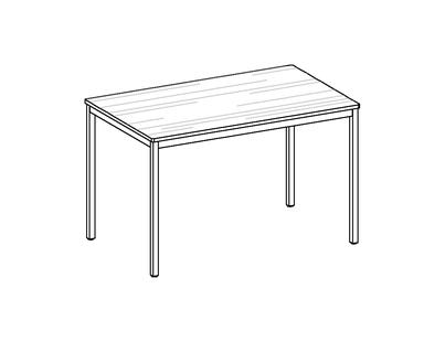 room³ Tisch mit Sperracolor Platte