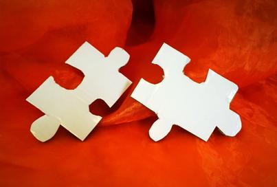 Puzzleteile ist ein Teilschritt zum Erfolg.
