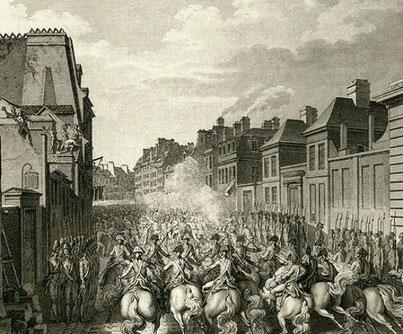 Soldaterne nedkæmper arbejdernes strejke