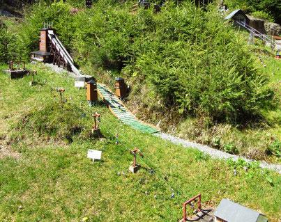 Seilbahnen und Springschanze am Fichtelberg