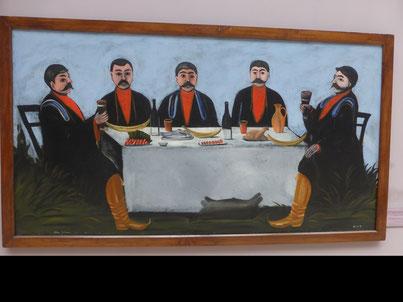 Le banquet géorgien est l'occasion de chanter des chants polyphoniques géorgiens