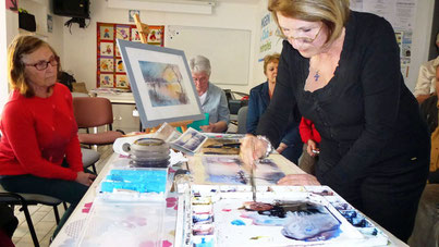 Mme Inge Dixneuf aquarelliste