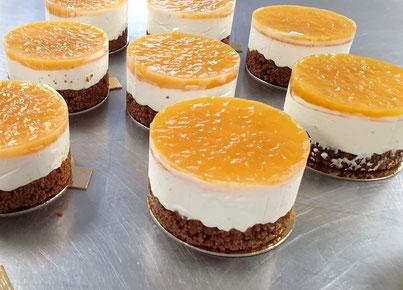 cheesecake coulis passion ou fraises basilic