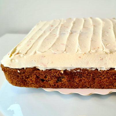 carrot cake glaçage citron sans gluten