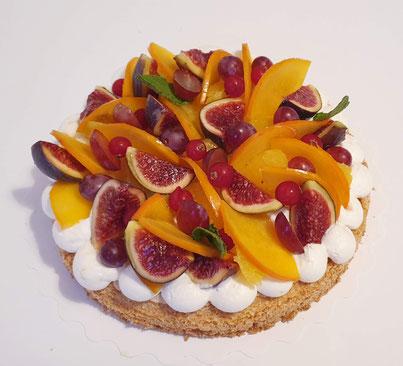 succès meringue amande aux fruits de saison sans gluten