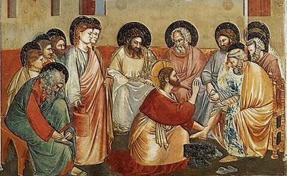 Giotto, La lavanda dei piedi