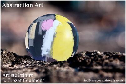 Abstrait- Abstraction- Oeuvre Originale- Art Unique (Enduit de chaux/ bois)