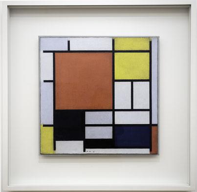 Bild: Komposition mit Rot, Geld, Blau und Schwarz, Öl auf Leinwand, Piet Mondrian, 1921, Gemeente Museum , Den Haag