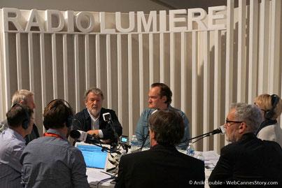 """Radio Lumière Walter Hill , à  """"La Grande Emission"""" en compagnie de  Quentin Tarantino  - Festival Lumière 2016 - Lyon - Photo © Anik Couble"""