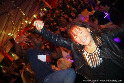 Anik Couble, lors d'une très festive soirée à La Plateforme - Nuits Lumière - Festival Lumière 2016 - Lyon - Photo © Anik Couble