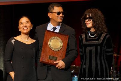 Festival Lumière à Lyon avec Martin Sorsese  en invité d'Honneur , ici avec  Salma Hayek,  qui lui  a remis le  Prix Lumière © Anik COUBLE