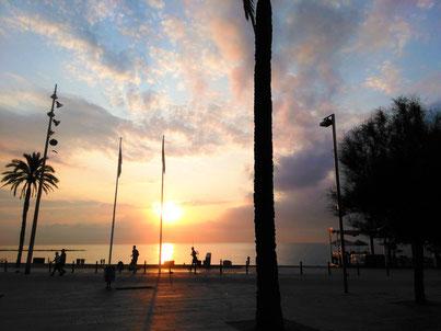 Strand, Barcelona, Meer, Badalona, Katalonien, Castelldefells