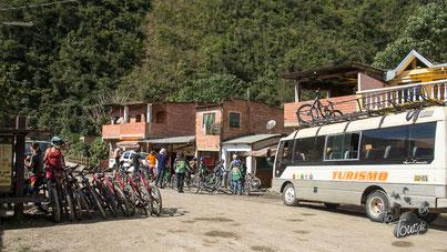 Yolosa - Endstation für die Mountainbiker am Camino de la Murrte