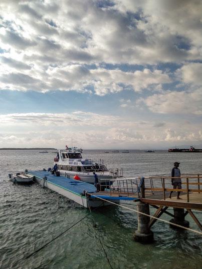Ankunft auf Nusa Penida mit dem Schnellboot