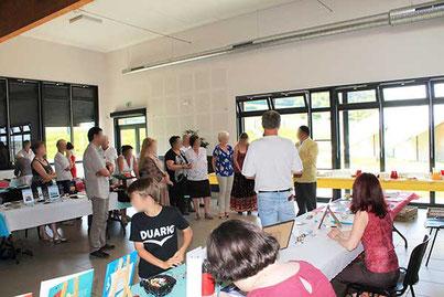 Discours de Mr le Maire et vin d'honneur au Salon du Livre le Printemps des Plumes de Fleury-la-Vallée 2017 avec l'illustratrice Cloé Perrotin