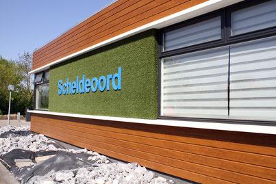 Nieuwe gevel hoofdgebouw camping Scheldeoord