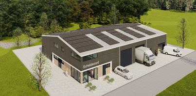 3D ontwerp nieuwe loods Camping Scheldeoord Baarland