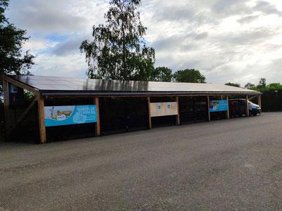Gebouwde solaroverkapping camping Scheldeoord