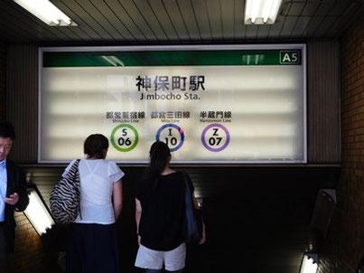 神保町駅ナンバリング