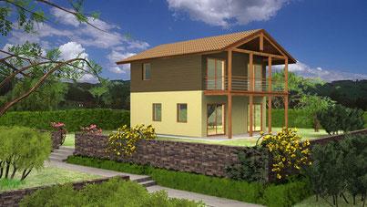 Villa 2 piani tradizionale 110mq