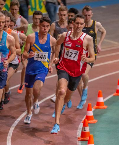 Andreas Vojta kurz nach dem Start des heutigen 1500m-Rennens