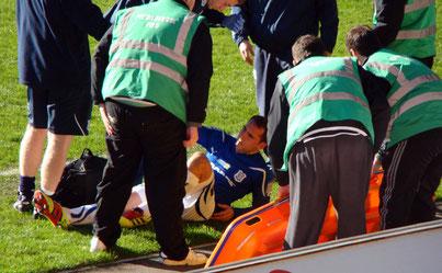 Muskelverletzung im Fußball