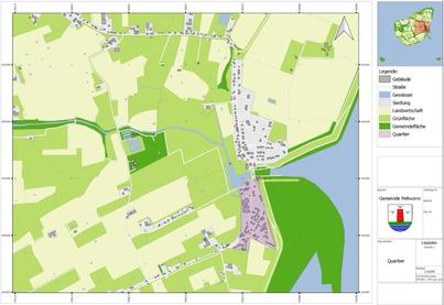 """Quartier """"Ortsteil Ostersiel"""", Pellworm - Gegenstand der Energieeffizienzanalyse im Rahmen des KfW-Förderprogramms """"Energetische Stadtsanierung"""" 2017"""