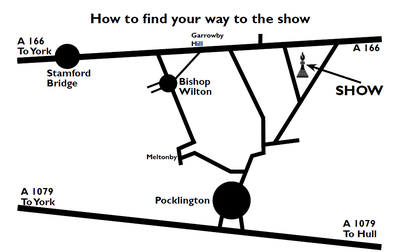 Map to this year's show field 2014