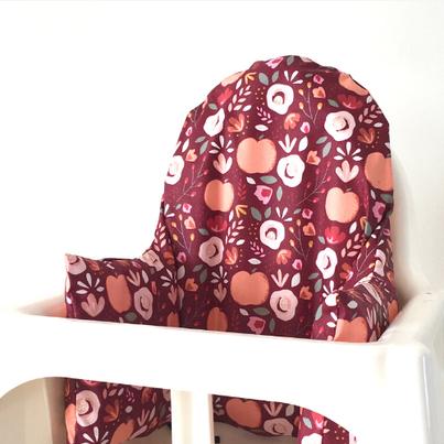 Cette image représente le coussin de chaise haute Ikea modèle Charlotte