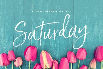 Chameo-design.com recommends Saturday script for branding & logs