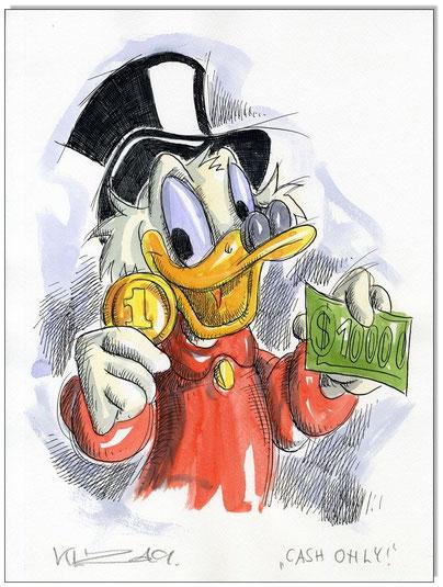 Dagobert Duck: Cash only!