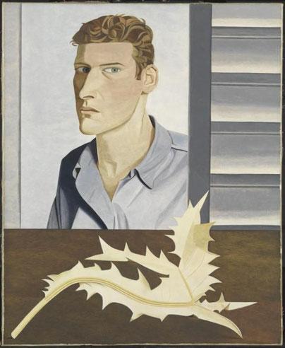 ルシアン・フロイド《カザミと男》1946年,Tateより