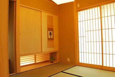 左官塗りの和室