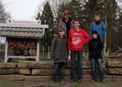 v.links: Jan-Frederic, C.Perschmann, Henrik, Tommi u. Phil  -        Foto: A: Bürgener