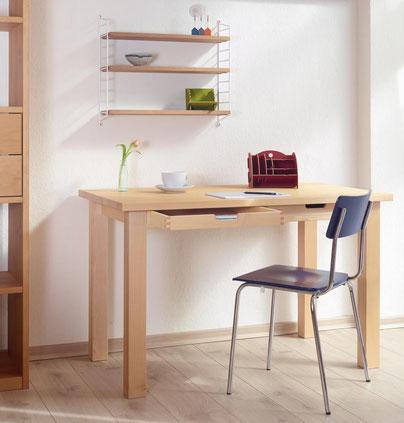 Schreibtisch aus Ahorn mit Schubkasten