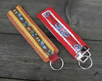 Leder-Schlüsselanhänger Nr. 5  & Nr. 6