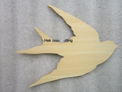 plywood laser cutting bird shapes