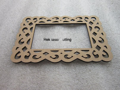 Custom photo frame laser cutting, material: MDF