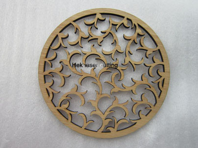 laser cutting bamboo coaster
