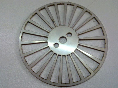 Laser cutting Round disk stainless steel