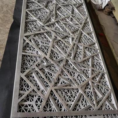 Aluminium metal screen