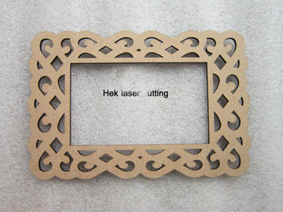 flower pattern photo frame laser cutting MDF