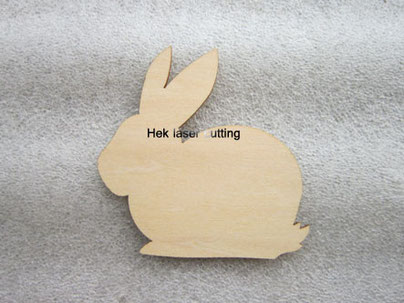 plywood laser cutting rabbit shapes