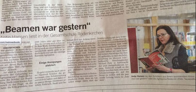 KStA Agrippina-News beamen war gestern, Antje Hansen